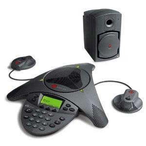 Polycom SoundStation VTX 1000 Conference Phone, with subwoofer and external microphones (2200-07142-001)