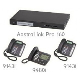 AastraLink Pro 160 - 9000 Series Bundle w/ 1x 9480i, 2x 9143i (NEW)